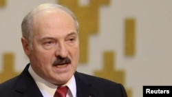 Belarus -- President Alyaksandr Lukashenka speaks after taking the oath during his inauguration ceremony in Minsk, 21Jan2011