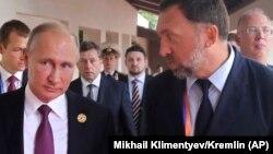 Путин и Дерипаска