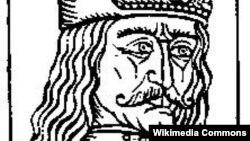 Gravură de epocă reprezentîndu-l pe domnitorul Vald Țepeș