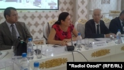 Tajikistan -- a meeting of representatives of political parties nad civil societies about parliamentary elections, Dushanbe, 18 June 2014