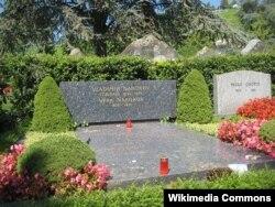 Nabokovla həyat yoldaşının məzarı, İsveçrə