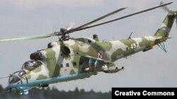 Илустрација: Руски хелихоптер Ми-35.