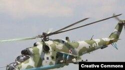 Ռուսական արտադրության Ми-35 ռազմական ուղղաթիռը