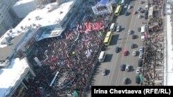 Rusiya müxalifətinin Yeni Arbatda anti Putin aksiyası. 10 mart 2012