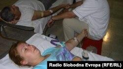 Крводарителска акција во Куманово.