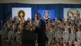 أوباما خلال زيارته مقر القيادة العسكرية الأميركية الوسطى في فلوريدا - 17 أيلول 2014