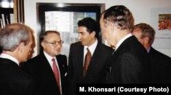 در کنار شاهزاده رضا پهلوی در دیدار با مقامهای آمریکایی