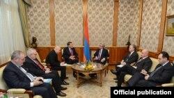 Армения - Встреча президента Армении Сержа Саргсяна с сопредседателями Минской группы ОБСЕ, Ереван, 23 ноября 2012 г.