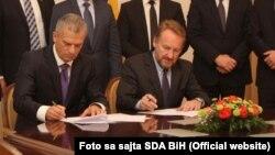 Radončić i Izetbegović, potpisivanje sporazuma o koaliciji