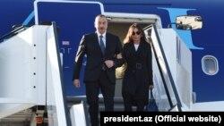 Azerbaýjanyň prezidenti Ilham Aliýew we onuň aýaly Mehriban Aliýewa, Germaniýa, 16-njy fewral, 2017.