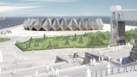The design of Baku's Crystal Hall, the venue for Eurovision 2012