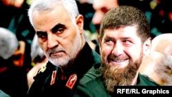 Касем Сулеймани и Рамзан Кадыров (коллаж)
