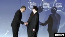 На саммите состоялась встреча Барака Обамы с лидером Китая Ху Цзиньтао.