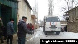 Грузовик у границ анклава Сох. Кыргызстан, 16 января 2013 года.