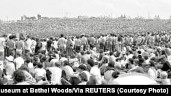 Гледачы на фэстывалі Вудстак, 1969