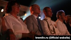 Президент Росії Володимир Путін дивиться концерт у Севастополі, 4 серпня 2018 року
