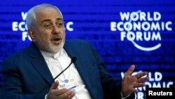 محمدجواد ظریف، وزیر خارجه ایران، در مجمع جهانی اقتصاد در داووس سوئیس