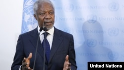 UN-Arab League envoy for Syria Kofi Annan
