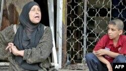Багдаддагы чабуулда бул аял уулунан, эки небересинен айрылды, 23-апрель, 2009-жыл.
