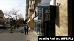 Azerbaijan -- /New dollar rate, Baku, 09Apr2015