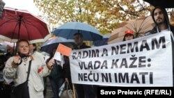 Podgorica: Protest zaposlenih u javnom sektoru