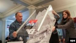 Pamje nga procesi i zgjedhjeve të mëparshme në pjesën lindore të Ukrainës