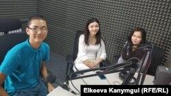 Марлен Токтомаматов, Орунгүл Сагынбаева жана Зейнеп Ибраим кызы.8-август, 2018-жыл.