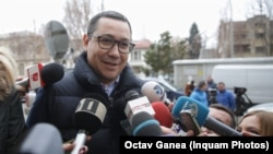 Victor Ponta la sosirea la audierea de la Parchetul General
