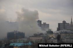 Москва. Пожар в здании Минобороны. 13:30
