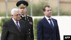 Махмуд Аббас и Дмитрий Медведев в Палестине