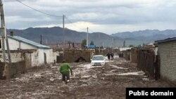 В городе Баян-Ульгий в Монголии после селя.