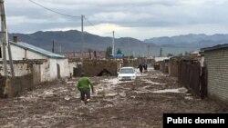 Монгольский город Баян-Ульгий после наводнения.