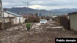 Последствия наводнения в Баян-Улгийском округе Монголии. Фото пользователя Facebook'а Байыта Кабанулы.