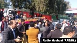 Похороны убитого журналиста в Афганистане, декабрь 2020 г.