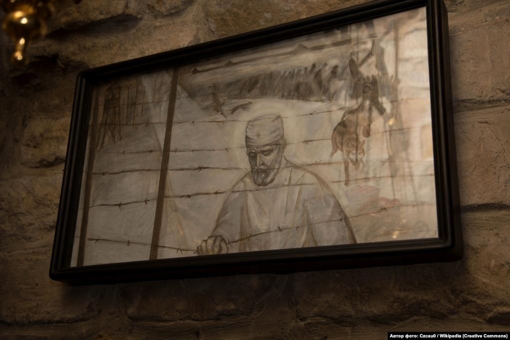 Зображення святого сповідника Арсена Річинського в Церкві Різдва Христового (місто Тернопіль)