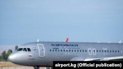 Kyrgyzstan, Manas international airport, plane - Aeroflot