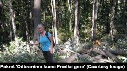 "Aktivistkinja Dragana Arsić iz Pokreta ""Odbranimo šume Fruške gore"""