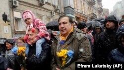 Mihail Saakașvili și susținătorii săi la Kiev