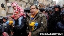 Միխեյիլ Սաակաշվիլին բողոքի գործողության ժամանակ, Կիև, 2017 թ․