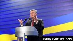 Președintele Petro Poroșenko la conferința de presă de la Kiev