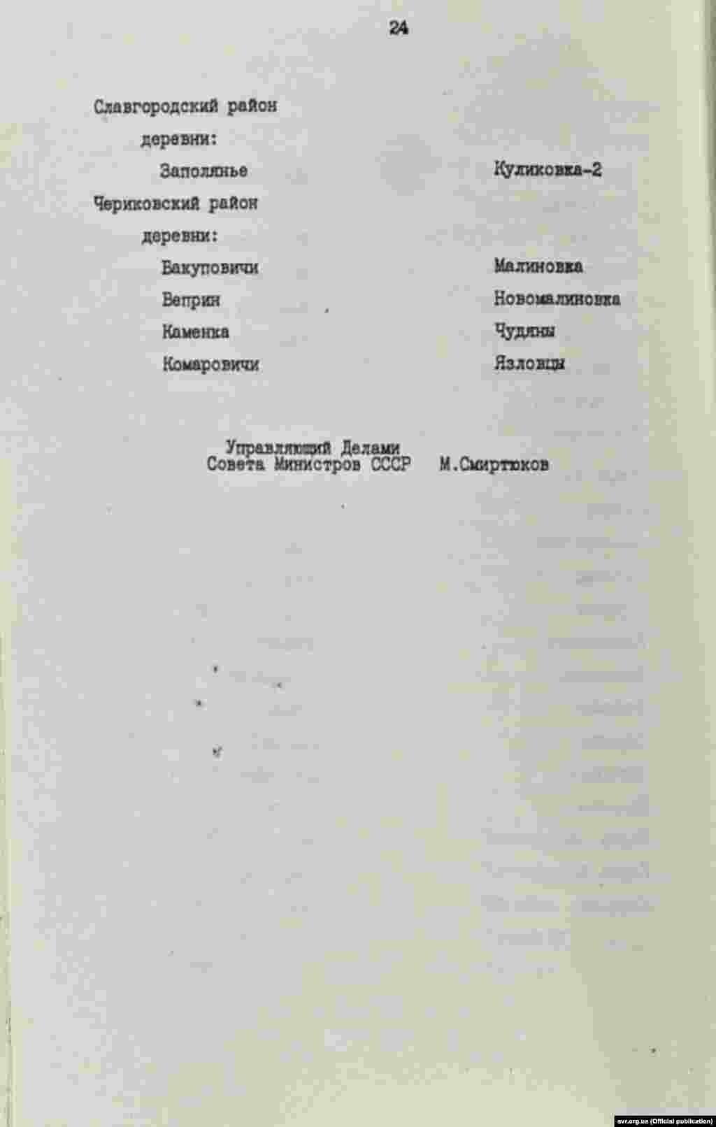 Перелік населених пунктів, в яких вводиться обмеження на споживання продуктів харчування