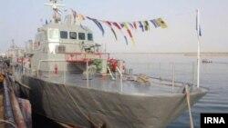 تصویری منتشر شده در خبرگزاری دولتی ایرنا در مهر ماه ۱۳۹۷ از ناوچه کنارک در منطقه سوم نیروی دریایی
