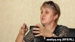 Председатель Конфедерации свободных профсоюзов Казахстана Лариса Харькова.