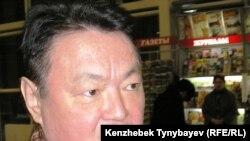 Заманбек Нұрқаділов, Алматы облысының бұрынғы әкімі, бұрынғы Төтенше жағдайлар министрі. Алматы әуежайы, 3 ақпан 2005 жыл.