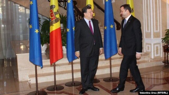Jose Manuel Barroso și Vlad Filat, Chișinău, 30.11.2012