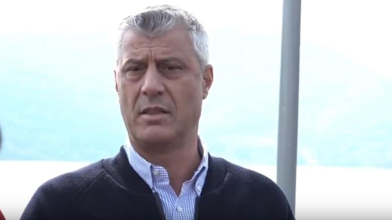 Thaci Says Won't Redraw Kosovo-Serbia Border Along Ethnic Lines