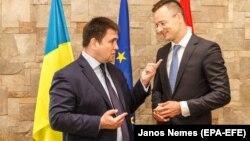 Главы МИД Украины и Венгрии Павел Климкин и Петер Сийярто во время посещения Зарарпатья, июнь 2018