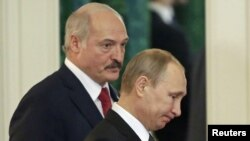 Президент Беларуси Александр Лукащенко и президент России Владимир Путин. Москва, Кремль, 3 марта 2015 года