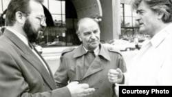 Stjepan Kljujić, Alija Izetbegović i Radovan Karadžić 1992. godine
