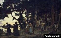 Казімер Альхімовіч. «Пахаваньне Гедыміна» (1888)
